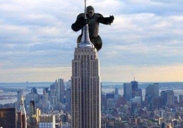 El Empire State Building de Nueva York en el cine. Película de King Kong.